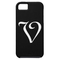 V Monogram Black IPhone 5 Case