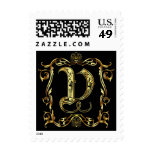 V Monogram Classic Best viewed large see notes Stamp