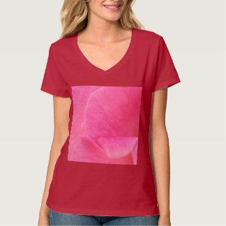 V NECK CHOICE BabyPINK Pin Flower Petal Art Tshirts