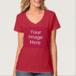 "V-Neck Women's T-Shirt<br><div class=""desc"">Design your own womens v-neck tee! Our design tool allows you to upload & add your own artwork, design, or images to make a one-of-a-kind womens v-neck tee. Add text using awesome fonts and view a preview of your design! Our easy to customize womens v-neck tee has no minimum order...</div>"