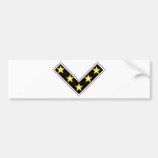 V of victory bumper sticker