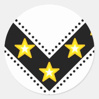 V of victory classic round sticker