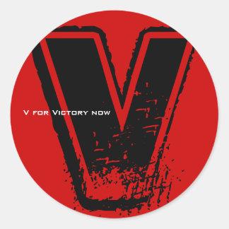 V para el pegatina 6 de la victoria