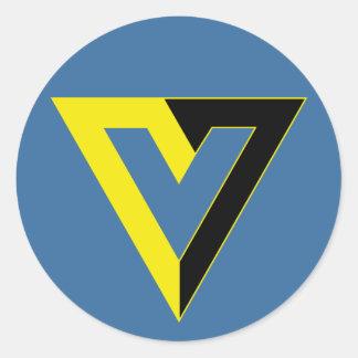 V para el pegatina voluntario