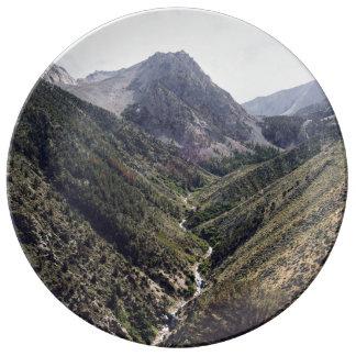 V para el valle plato de cerámica