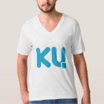V para Ku (para hombre) Playera