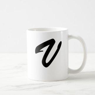 V para la victoria tazas de café