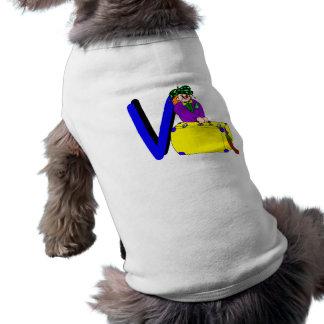 V payaso camisa de mascota