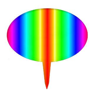 V pendiente bilinearia - arco iris figura para tarta
