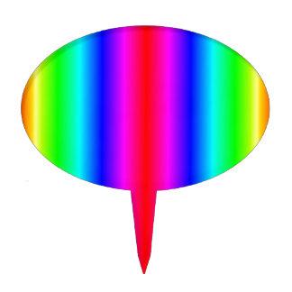 V pendiente bilinearia - arco iris figuras para tartas