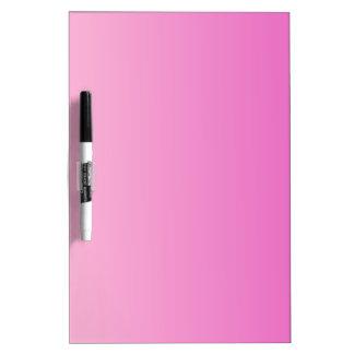 V pendiente linear - rosa clara al rosa oscuro pizarras blancas de calidad