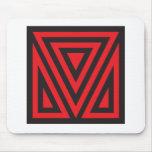 V red black mousepad