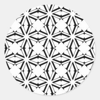 V serie 0 pegatina redonda