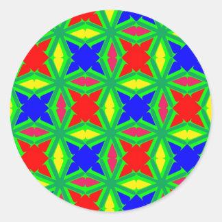 V serie 1 pegatina redonda