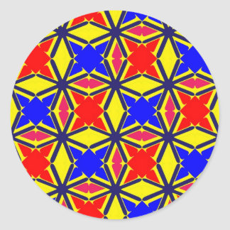 V serie 3 pegatina redonda