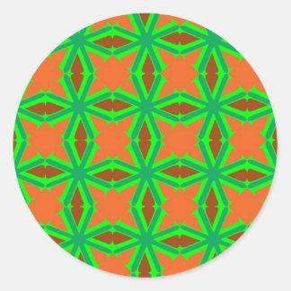 V serie 6 pegatina redonda