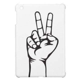 V-sign hand iPad mini case