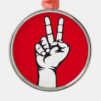 V-sign hand metal ornament