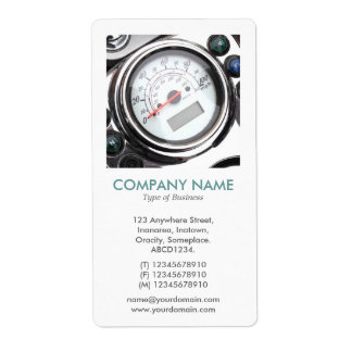 V Square Photo - Motorcycle Speedometer Shipping Label
