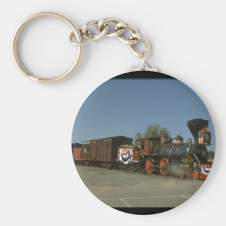 V&T 4-4-0 #12, with old freight cars_Trains Keychain
