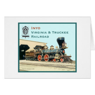 V&T Railroad Inyo engine Greeting Card