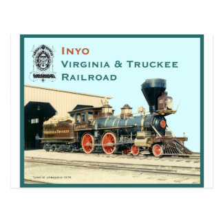V&T Railroad Inyo engine Post Card