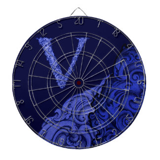 V - The Falck Alphabet (Blue) Dart Board