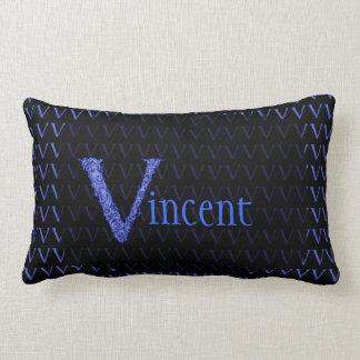 V - The Falck Alphabet (Blue) Throw Pillow