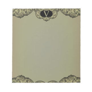 V - The Falck Alphabet (Golden) Notepad