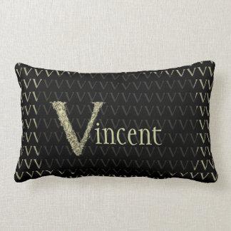 V - The Falck Alphabet (Golden) Throw Pillow