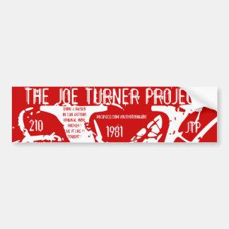 V, THE JOE TURNER PROJECT, 1981, 210, JTP, MYSP... BUMPER STICKER