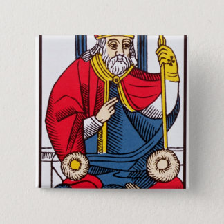 V The Pope, Tarot card Button