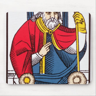V The Pope, Tarot card Mouse Pad