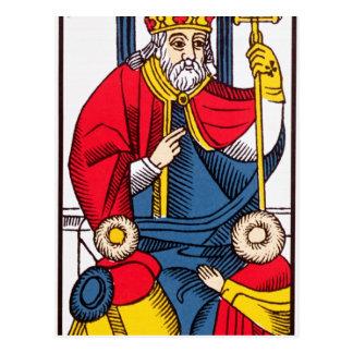 V The Pope, Tarot card Postcard