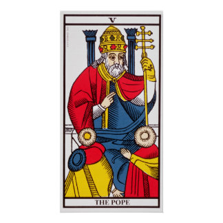 V The Pope, Tarot card Poster