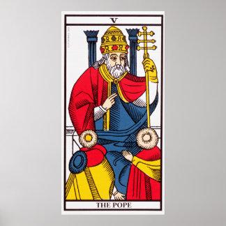 V The Pope, Tarot card Print