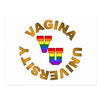 V.U.:  Vagina University Postcard