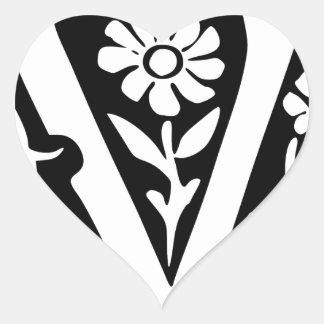 V-V Victory success Heart Sticker