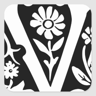 V-V Victory success Square Sticker