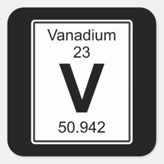 V - Vanadio Pegatina Cuadrada