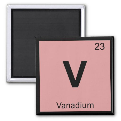 Vanadium magnets vanadium magnet designs for your fridge - Vanadium symbol periodic table ...
