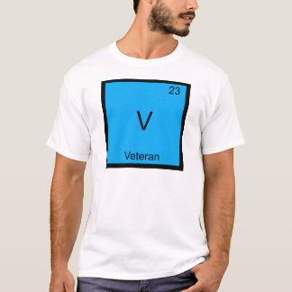 V - Veteran Military Chemistry Element Symbol Tee