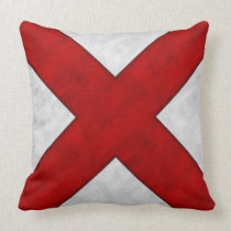 V Victor Watercolor Nautical Signal Maritime Flag Throw Pillow