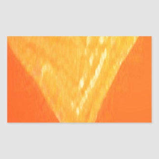V Victory Gold: Gifts for Wedding Engagement Rectangular Sticker