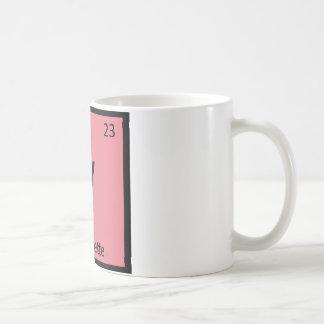V - Vinaigrette Chemistry Periodic Table Symbol Coffee Mug