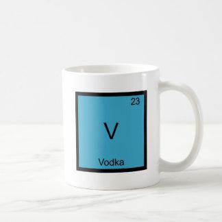 V - Vodka Funny Chemistry Element Symbol T-Shirt Mugs