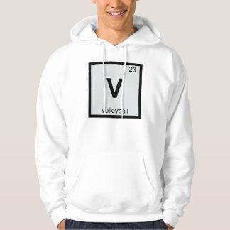 Periodic table symbol hoodies zazzle v volleyball chemistry periodic table symbol hoodie urtaz Images