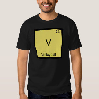 V - Volleyball Funny Chemistry Element Symbol Tee