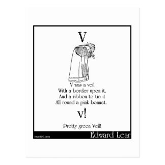 V was a veil postcard
