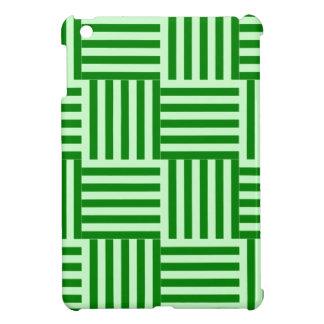 V y rayas amplias de H - Offwhitegreen y verde iPad Mini Carcasa